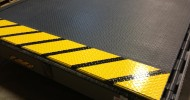 Dock Leveler Sprayed with Thermion SafTrax TH604 Non-Skid