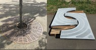 SafTrax Coated Tree Ring Grate with Thermion SafTrax TH604 Non-Skid